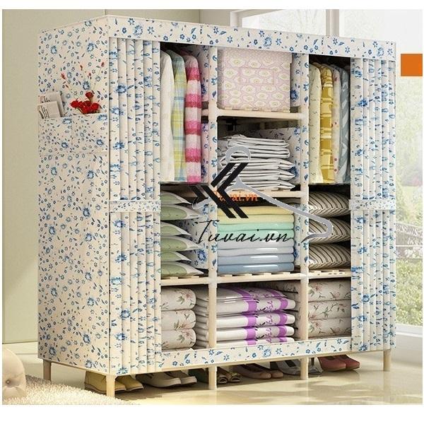Tủ vải khung gỗ Grandview