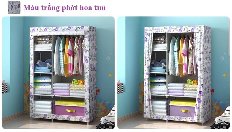 Tủ vải 2 buồng 6 ngăn Hang Yue