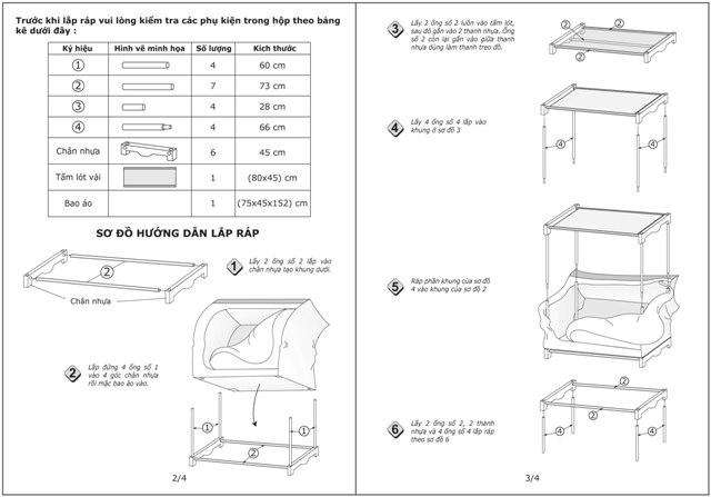 Sơ đồ cách lắp Tủ vải Thanh Long TVAI06