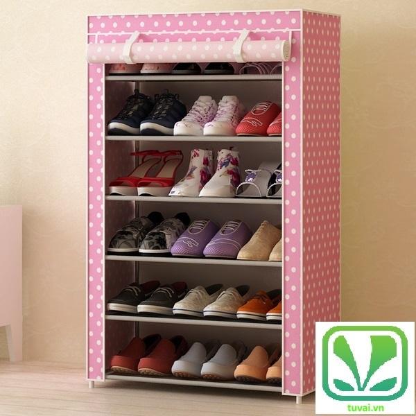 Tủ đựng giày Home BL màu hồng