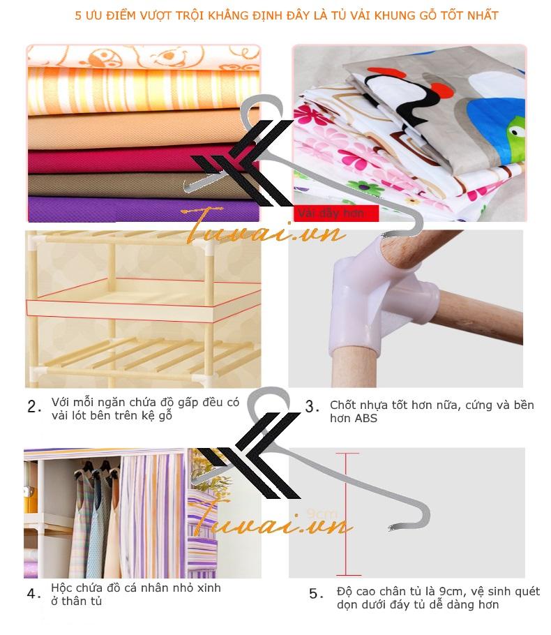 5 ưu điểm của Tủ vải khung gỗ HCM