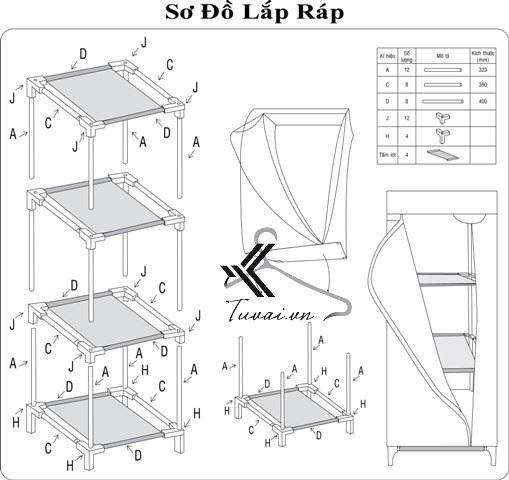 Cách lắp tủ Thanh Long TVAI04