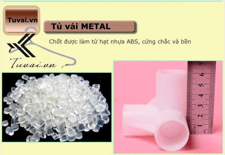 Chốt nhựa tủ vải Metal