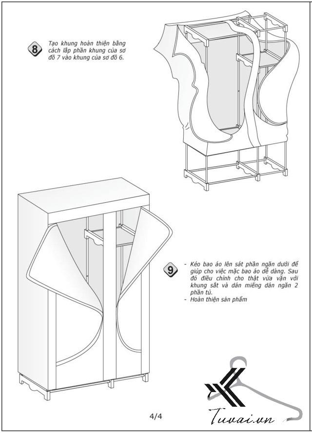 Hướng dẫn lắp tủ Thanh Long TVAI03 bước 4