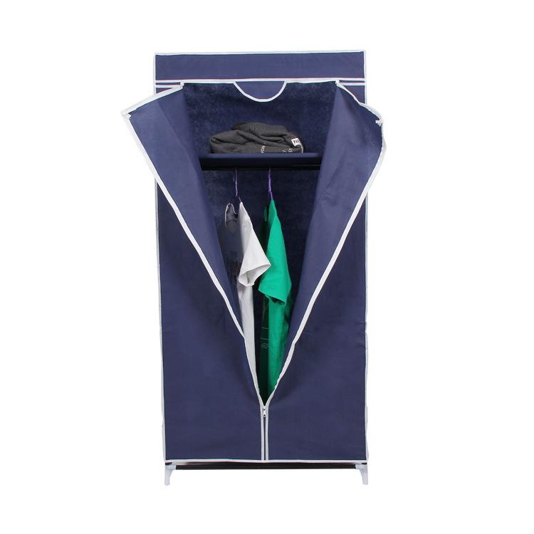 Tủ vải 1 buồng 2 ngăn khi mở