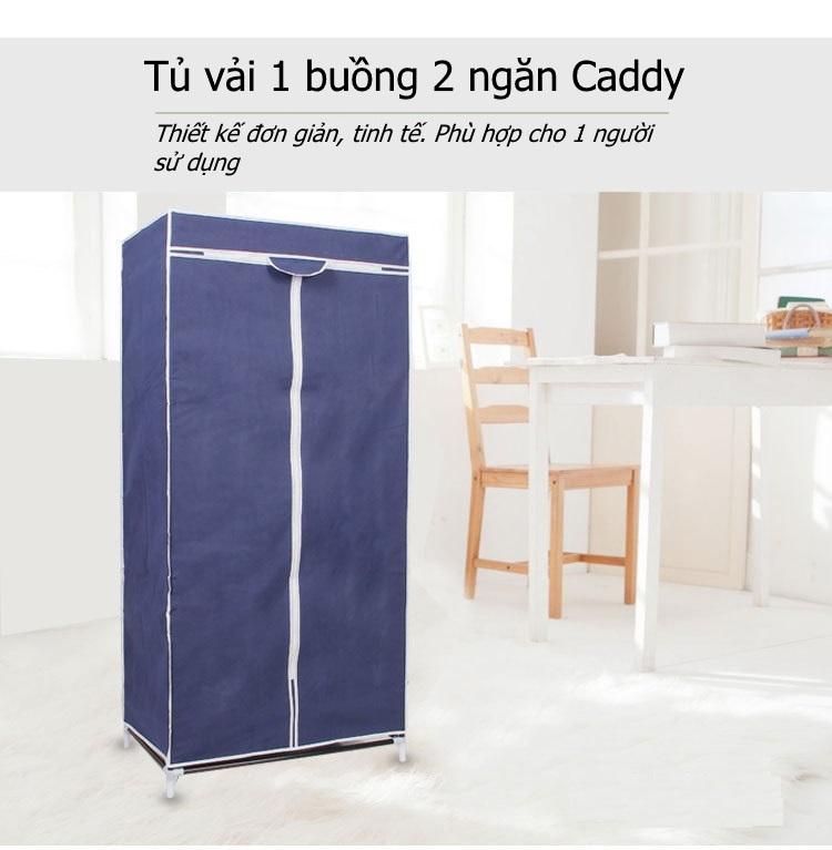 Tủ vải 1 buồng 2 ngăn Caddy khổ 90cm