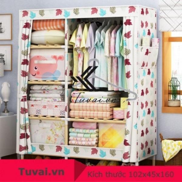 Tủ vải khung gỗ Lincau 2B6N