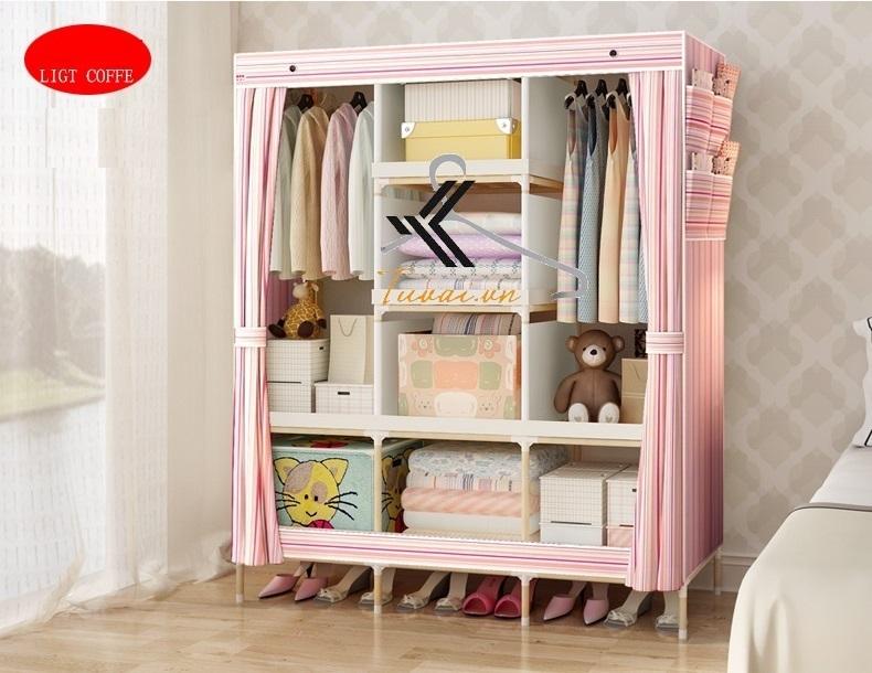 Tủ vải khung gỗ Hà Nội