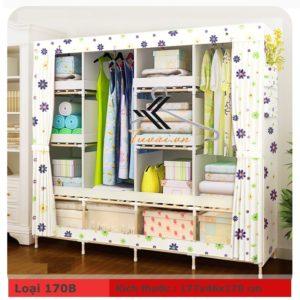 Tủ vải khung gỗ HCM màu hoa tím