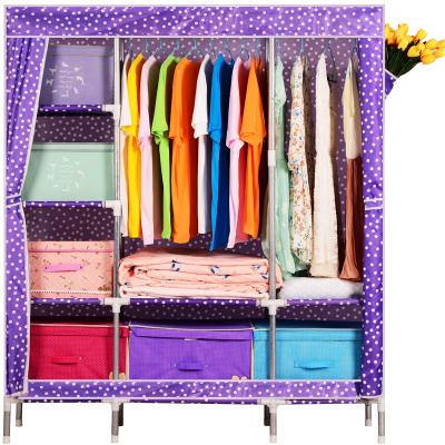 Tủ vải METAL 3B8N màu tím bi