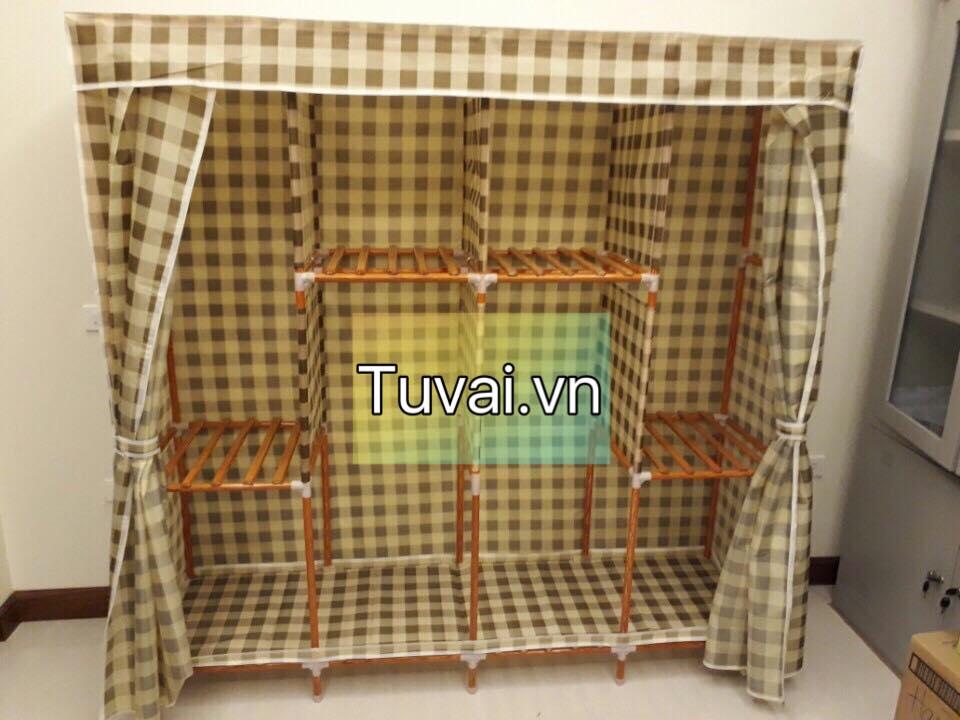 Tủ vải khung gỗ bọc nhựa 4B8N