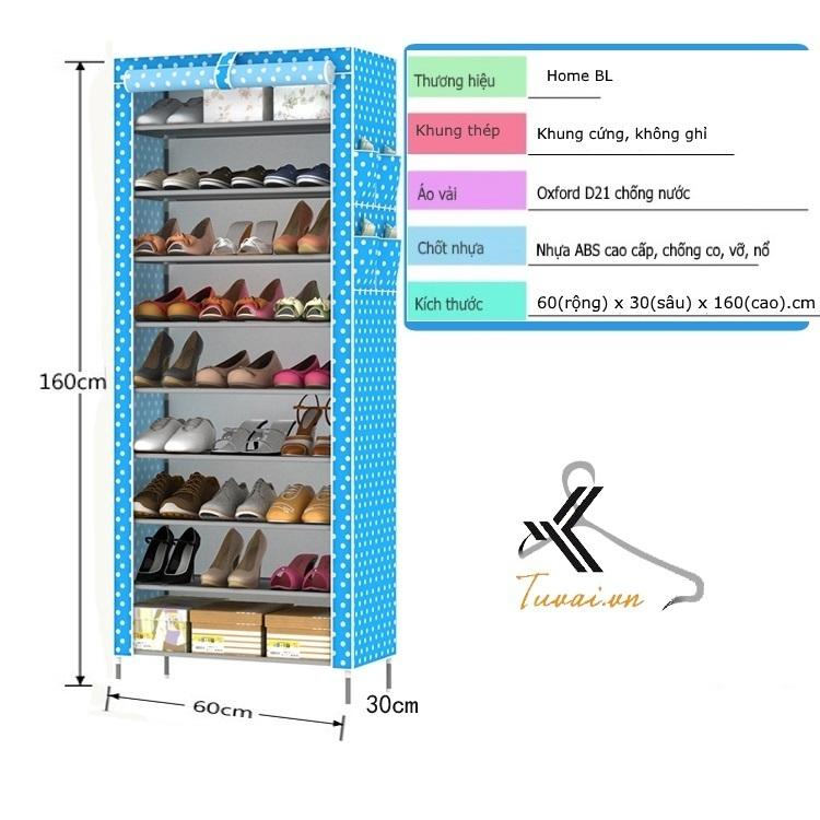 Kích thước tủ giày 9 tầng