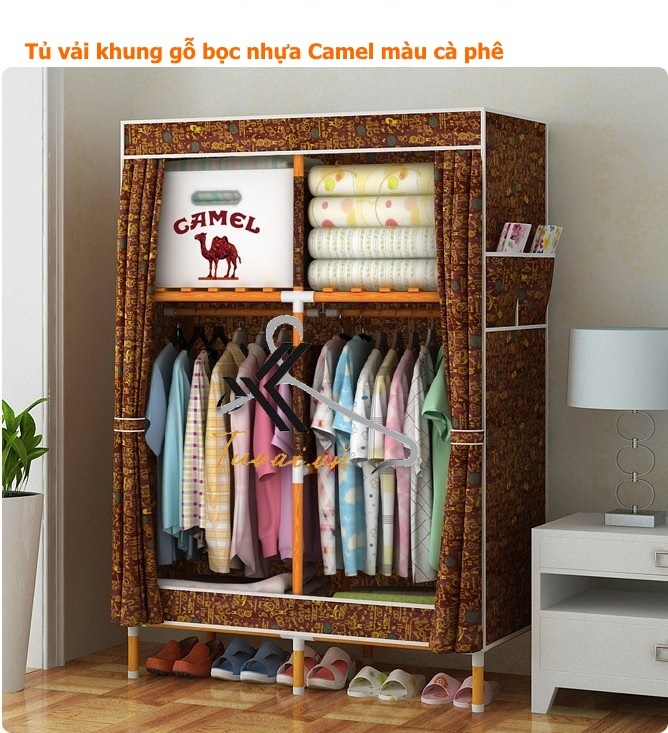Tủ vải khung gỗ bọc nhựa Camel 2B4N