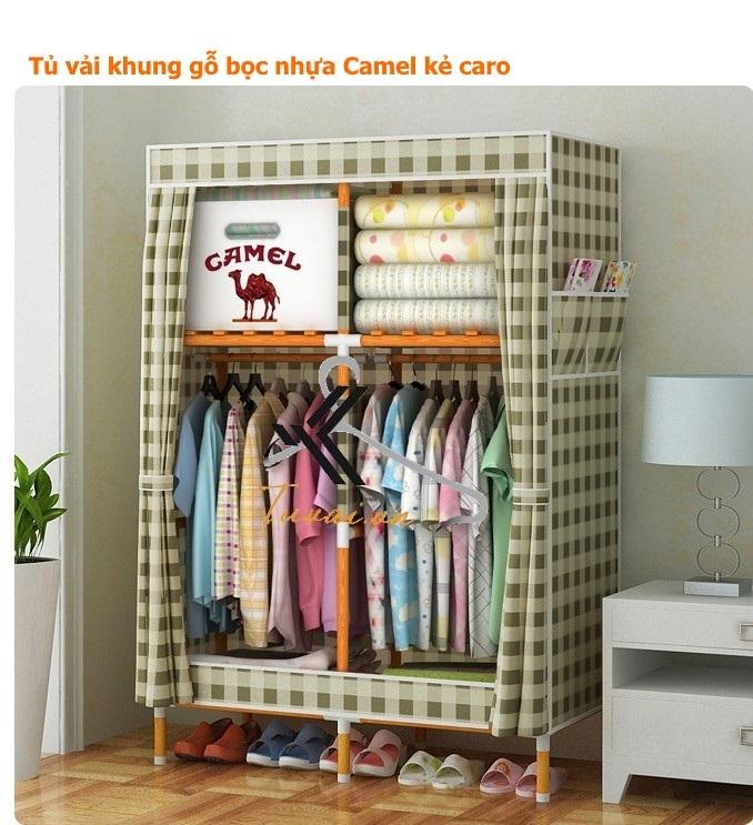 Tủ vải khung gỗ khổ 1m nặng 6kg