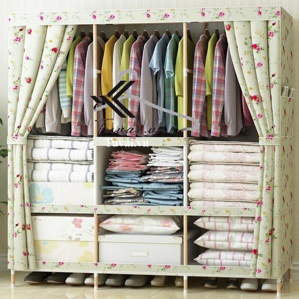 Tủ vải khung gỗ giá rẻ