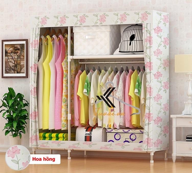 Tủ vải Metal 2B3N màu hoa hồng