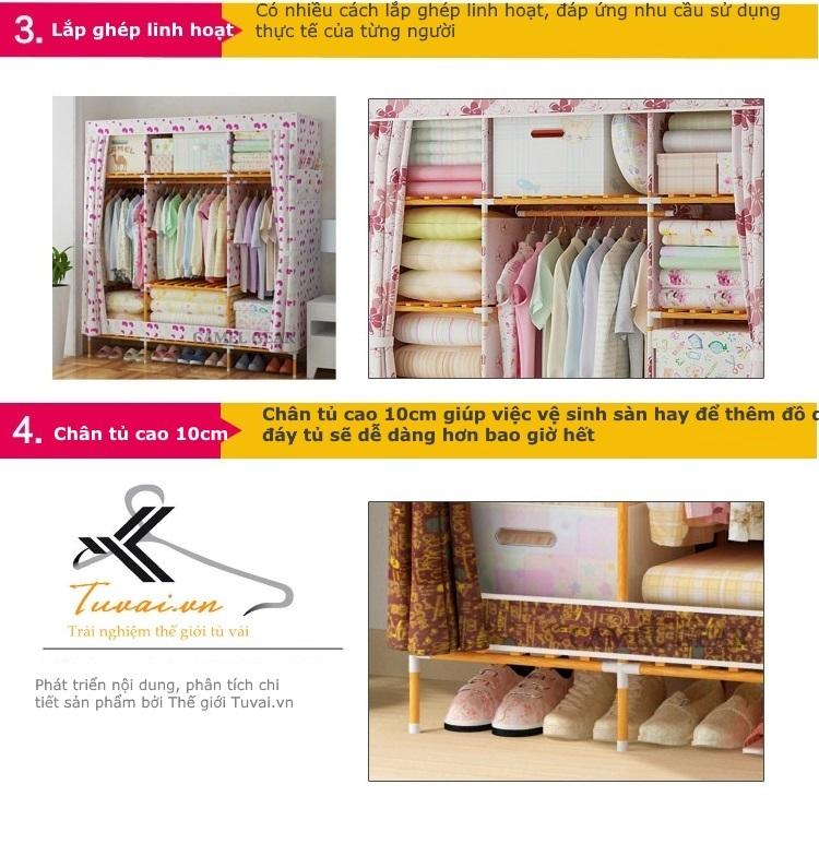 Ưu điểm của tủ vải khung gỗ bọc nhựa