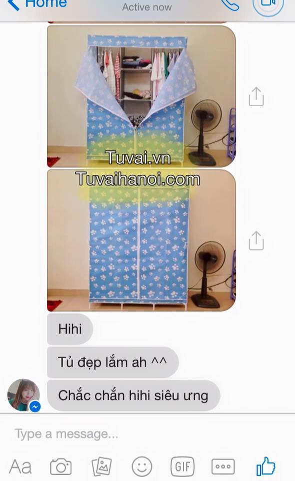 Phản hồi của khách hàng khi sử dụng tủ vải 3 buồng 8 ngăn của Tuvai.vn