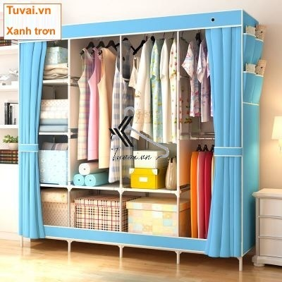 Tủ vải đựng quần áo giá rẻ khổ lớn