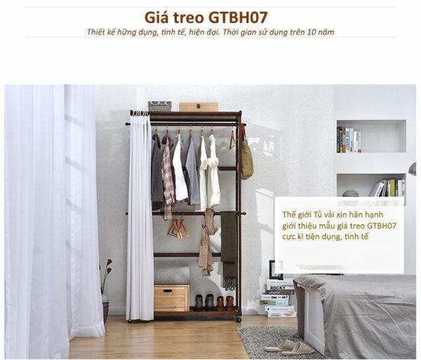 Giá treo quần áo GTBH07