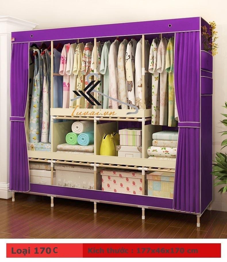 tủ vải đựng quần áo tốt TPHCM