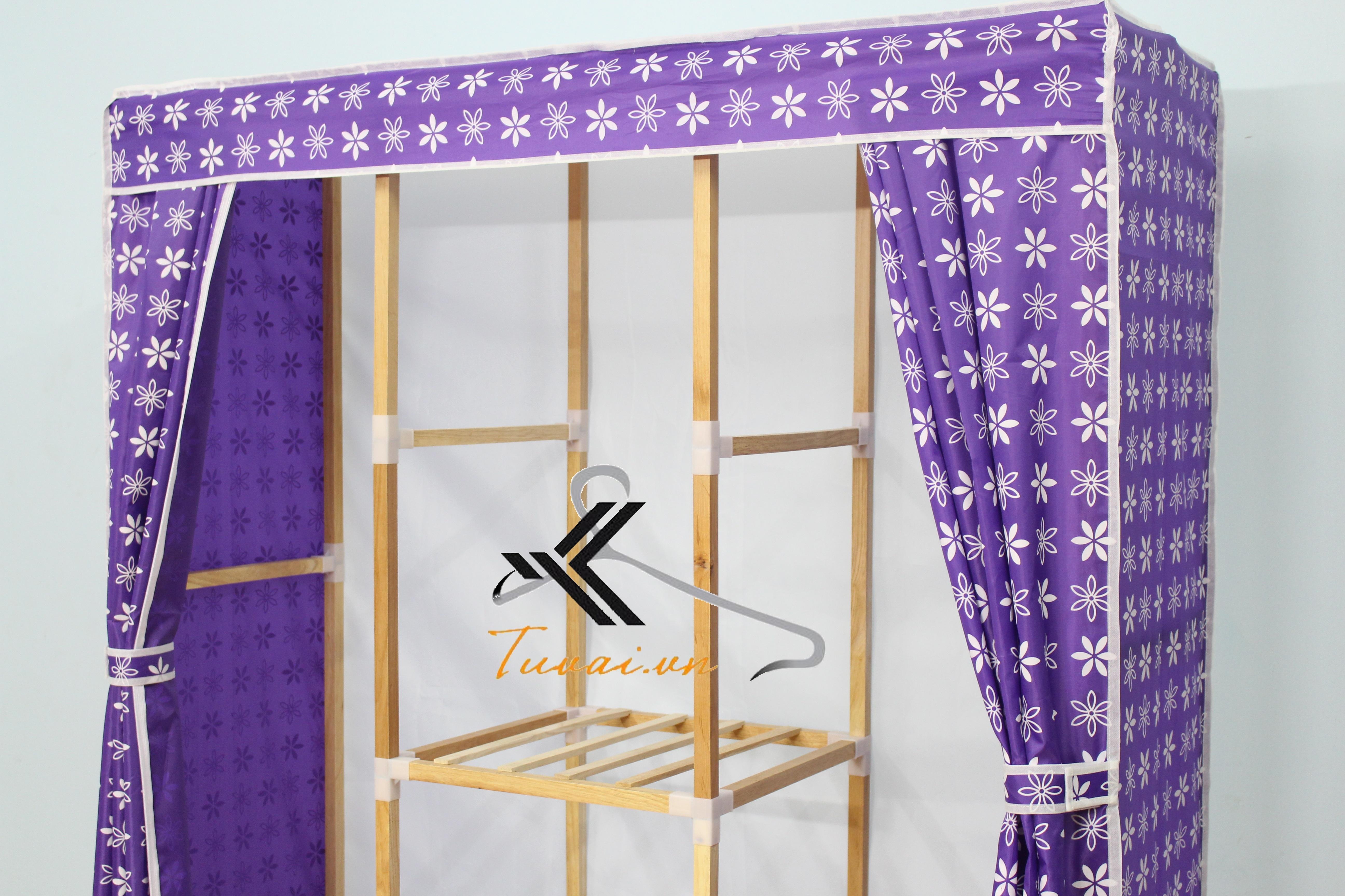 Khung của tủ vải khung gỗ Minh Long