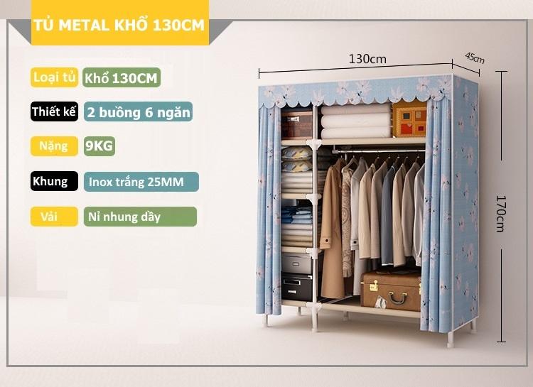 Thông tin sản phẩm tủ Metal khổ 130cm