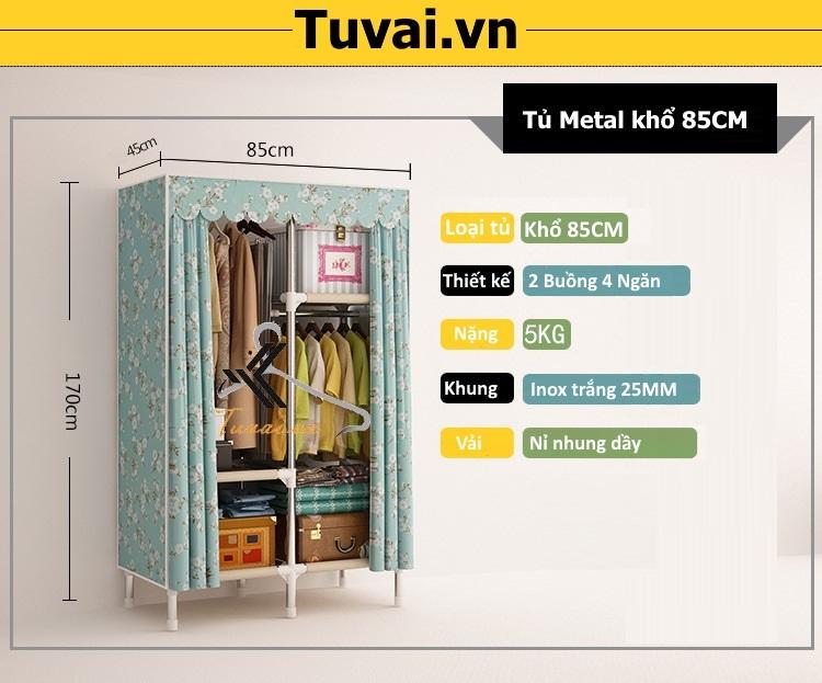 Thông tin tủ vải Metal khổ 85CM