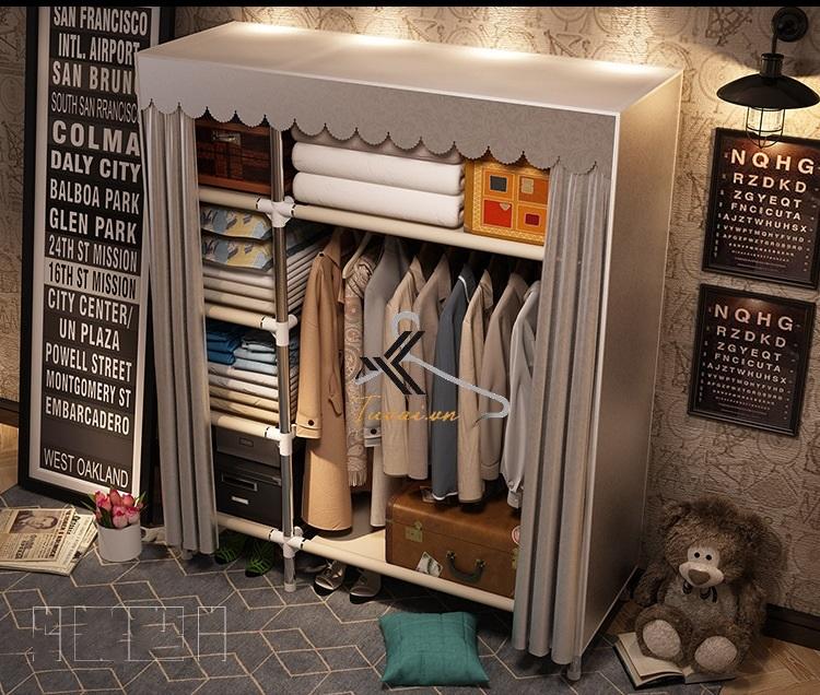 Tủ Metal khổ 130cm màu ghi