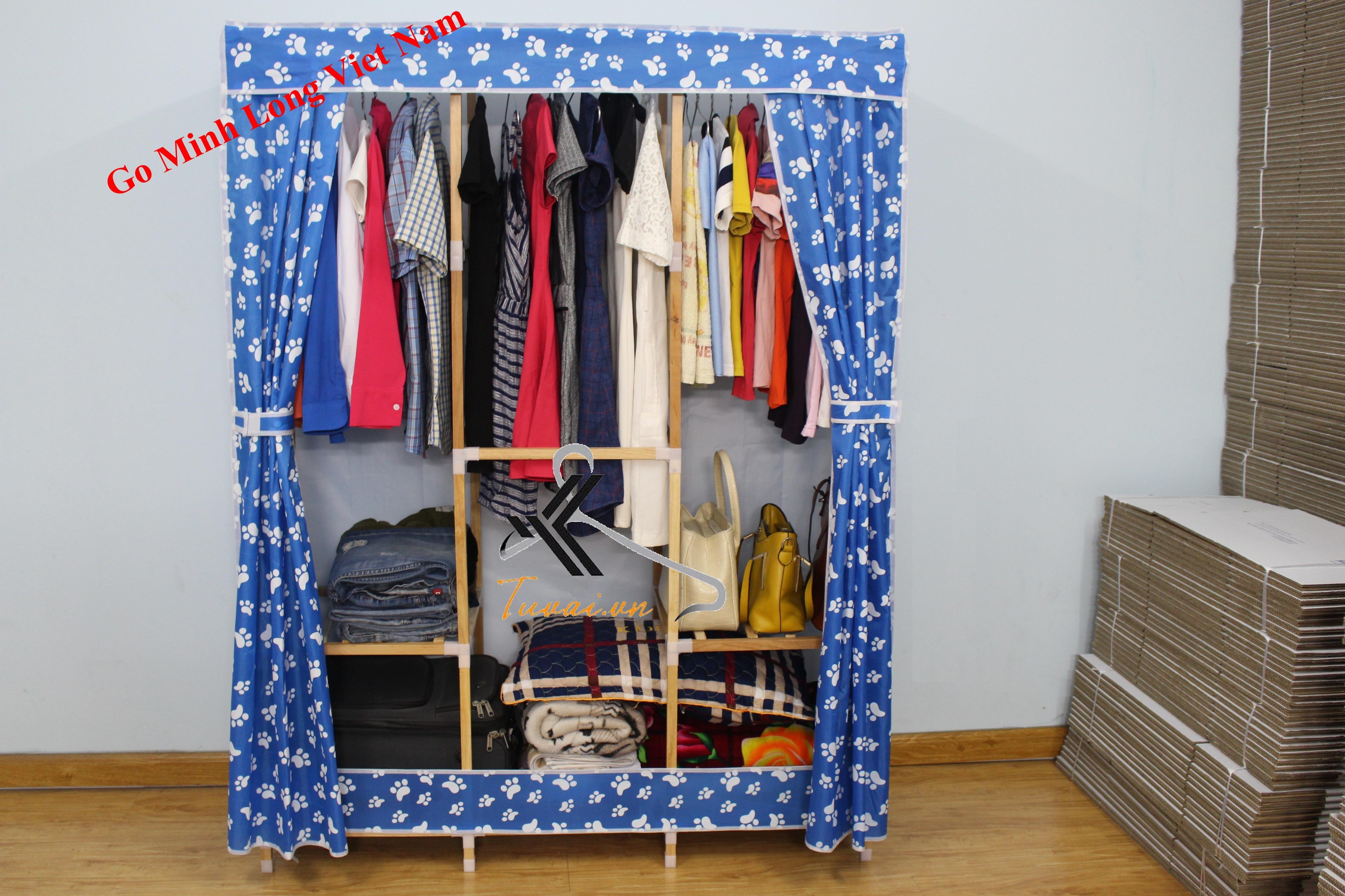 Tủ vải khung gỗ Minh Long khổ 130cm