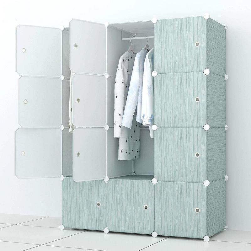 Tủ nhựa lắp ghép 12 ô màu xanh Paster