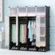 Tủ nhựa lắp ghép 16 ô màu trắng mờ có 4 ngăn để giày