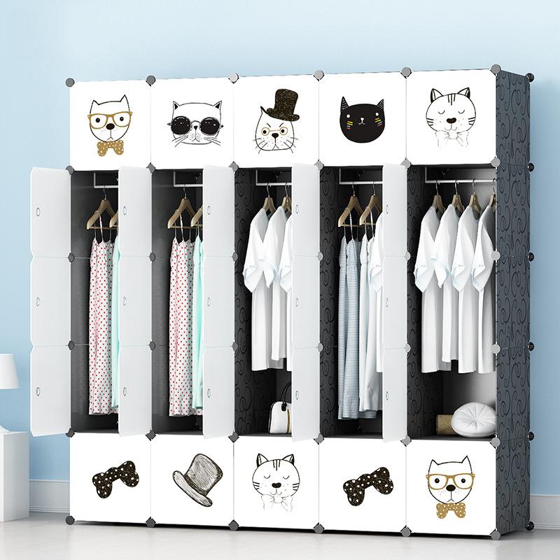 Tủ nhựa lắp ghép 25 ô màu trắng họa tiết