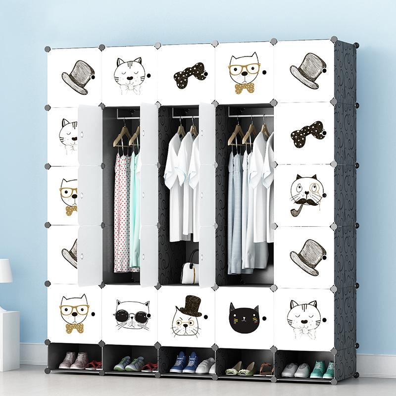 Tủ nhựa lắp ghép 25 ô màu trắng họa tiết có 5 ngăn để giày