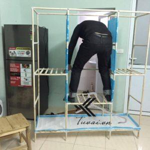Video hướng dẫn lắp đặt tủ vải khung gỗ Camel