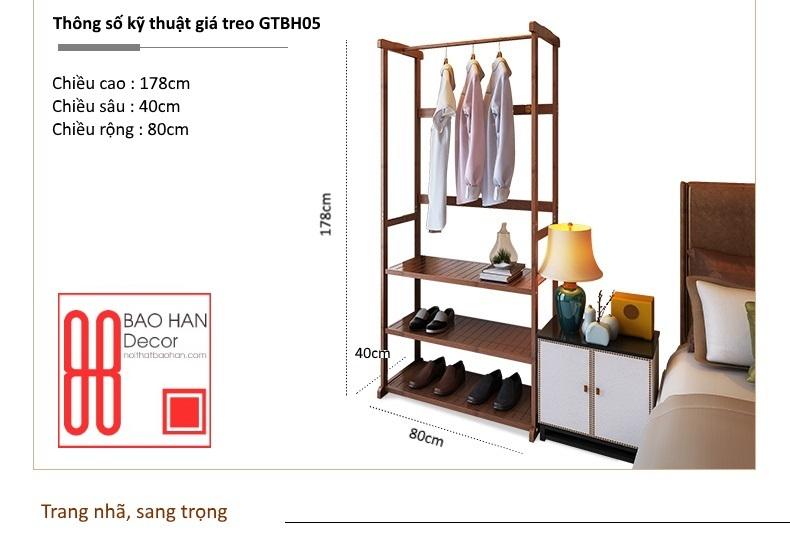 Thông tin chi tiết sản phẩm giá treo GTBH05