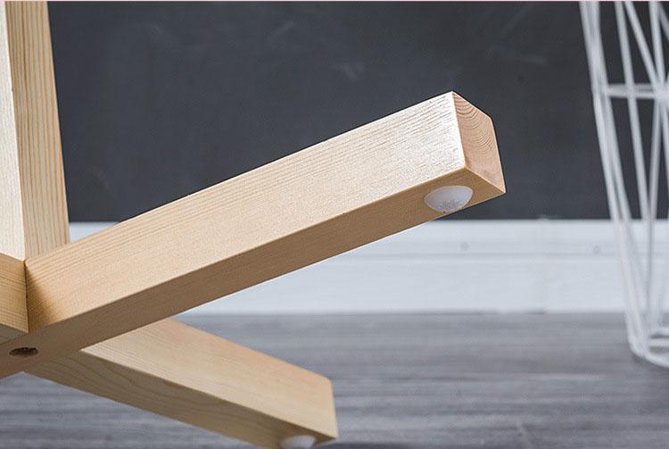 Chân cây treo quần áo bằng gỗ CT02