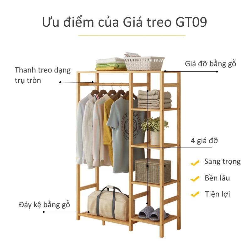 Các tính năng của giá treo quần áo GT09