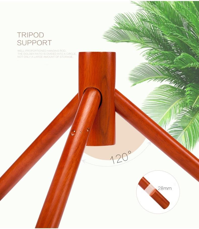 Chân của cây treo quần áo CT01 chắc chắn, ngả 120 độ