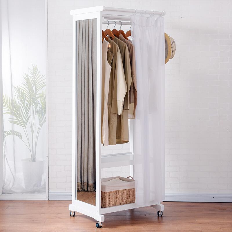 Giá treo quần áo GT07 có gương màu trắng