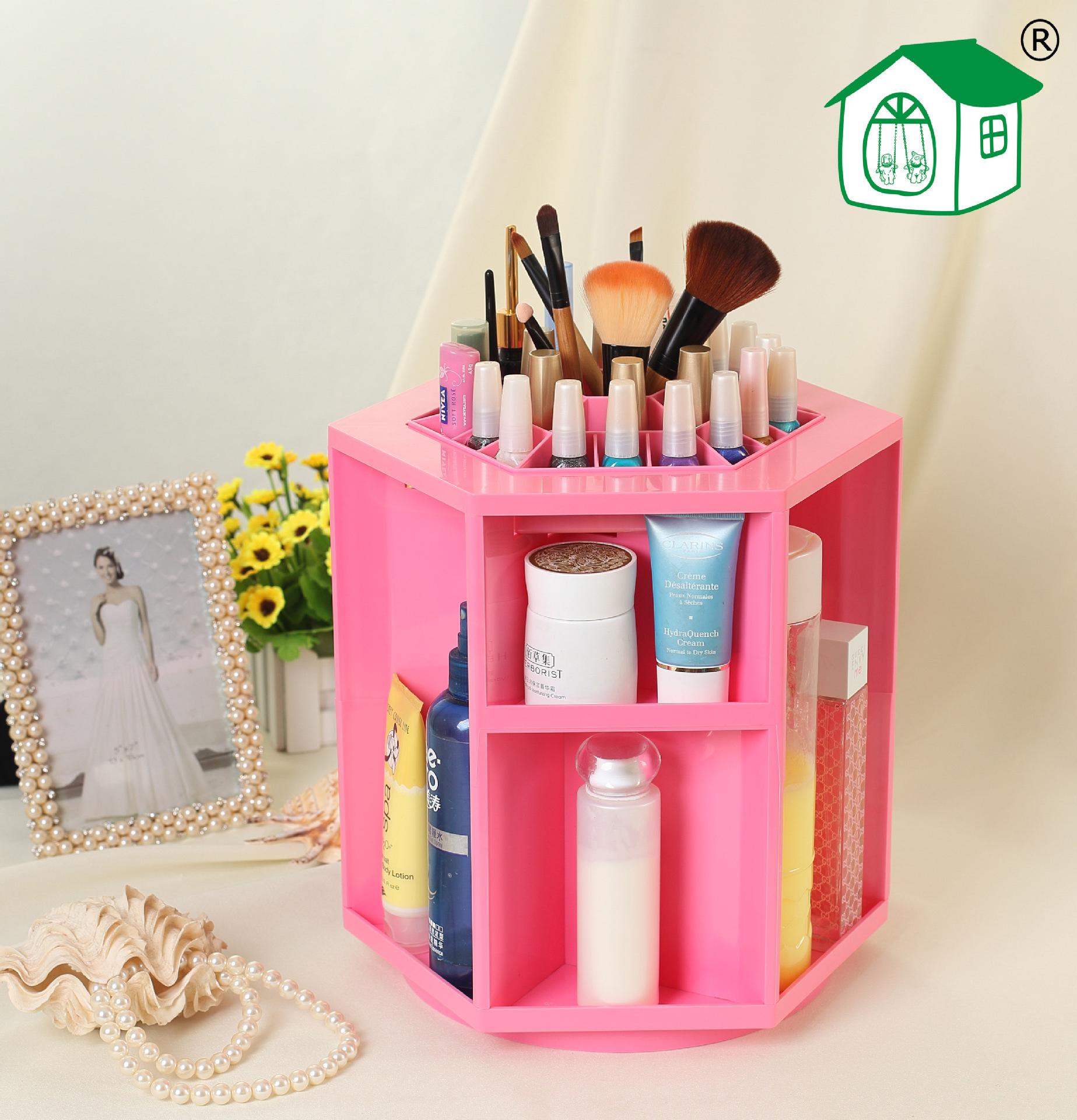 Hộp đựng đồ trang điểm Cosmetic Tower màu hồng