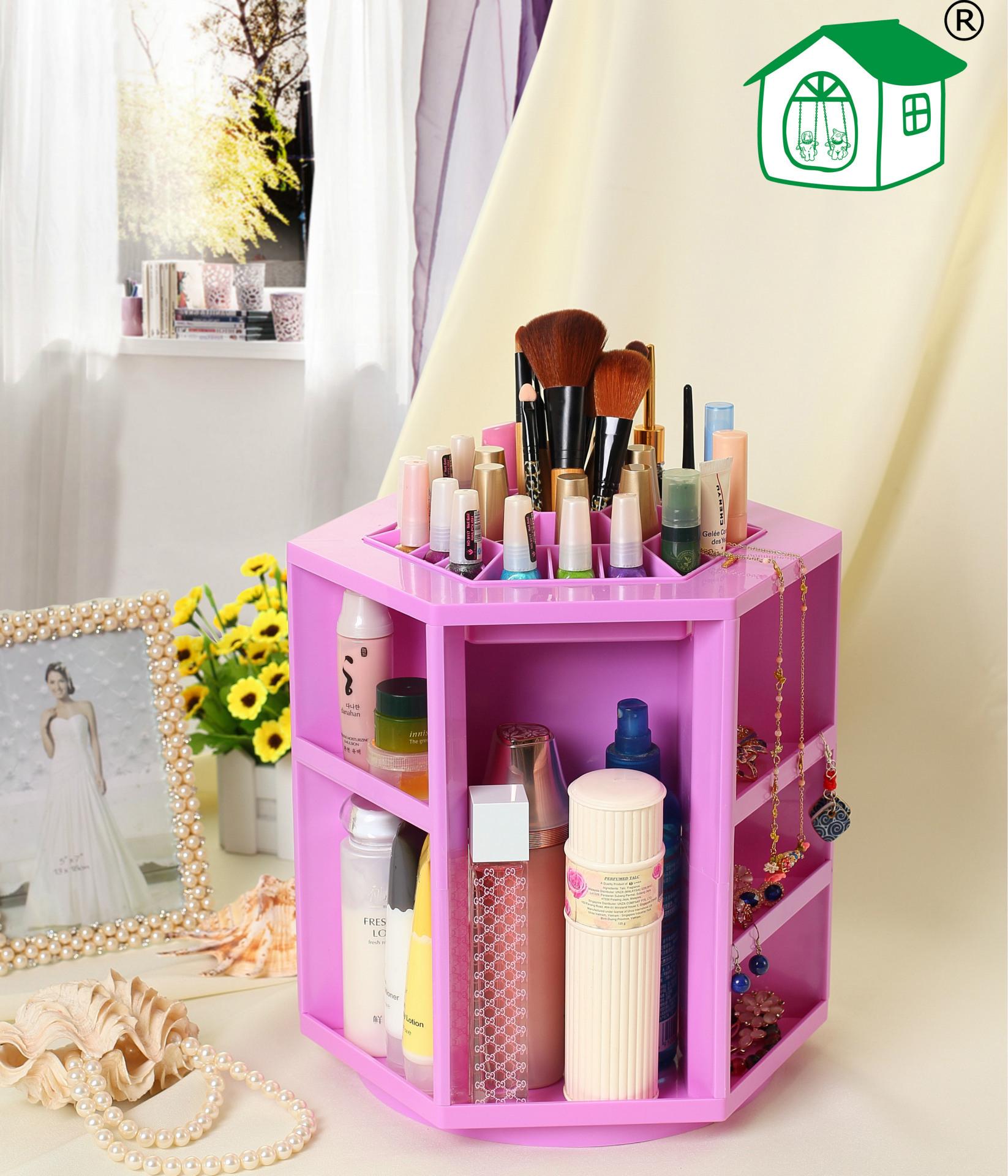 Hộp đựng đồ trang điểm Cosmetic Tower màu tím