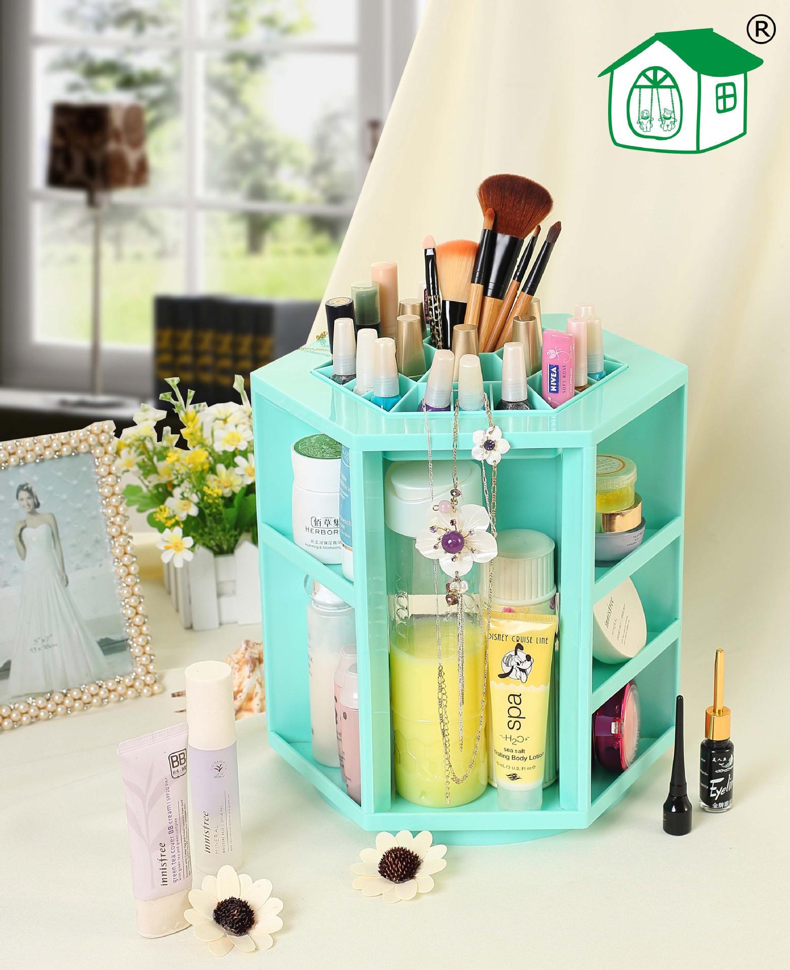 Hộp đựng đồ trang điểm Cosmetic Tower màu xanh