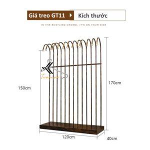 Kích thước giá treo GT11