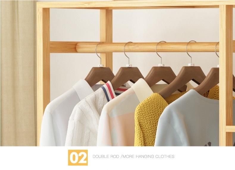 Thanh ngang treo đồ của giá treo quần áo khung gỗ GT09