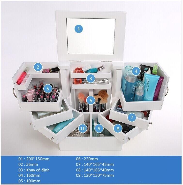 Thông tin kích thước hộp đựng mỹ phẩm Magic Box