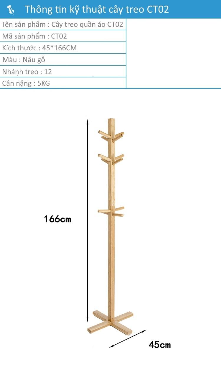 Thông tin sản phẩm cây treo quần áo CT02