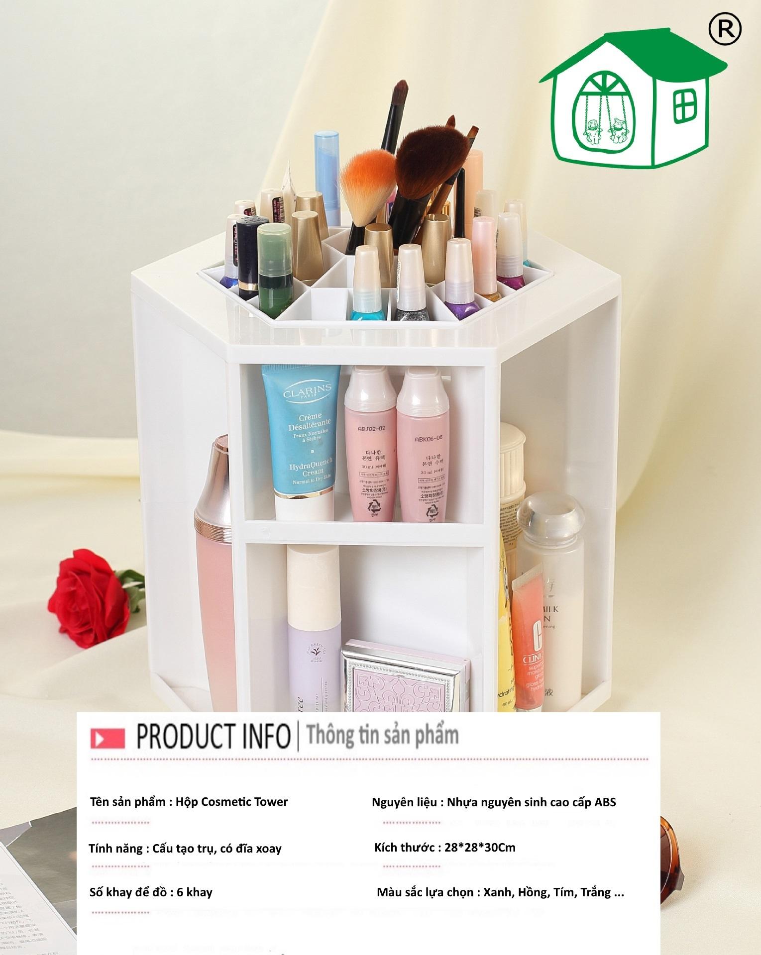 Thông tin sản phẩm hộp đựng mỹ phẩm Cosmetic Tower