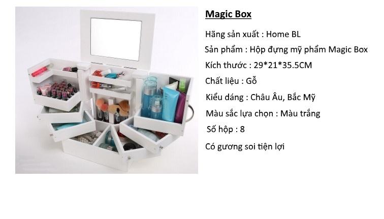 Thông tin sản phẩm hộp đựng mỹ phẩm Magic Box