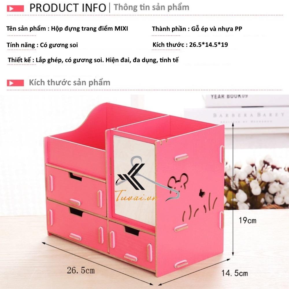 Thông tin sản phẩm hộp đựng mỹ phẩm Mixi